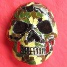Skull Camouflage Color Metal Belt Buckle