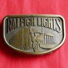 Raleigh Lights Cigarette Brass Color Metal Belt Buckle
