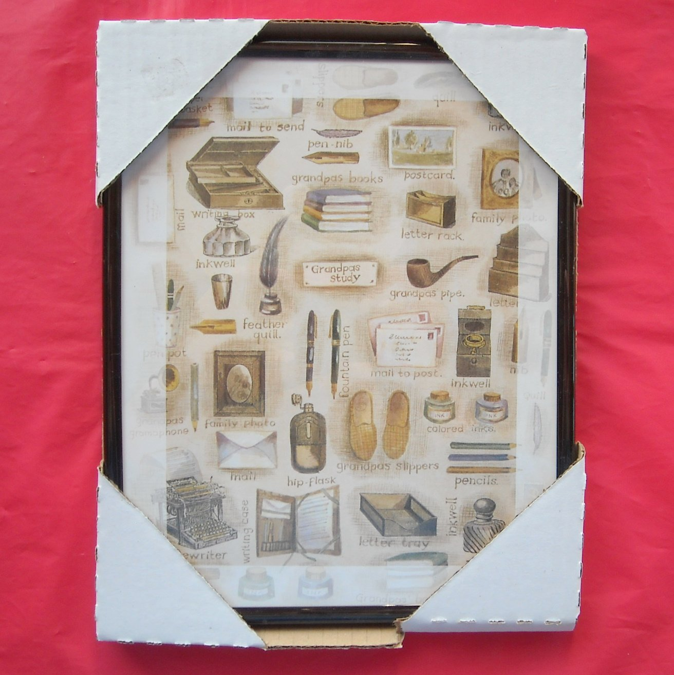 Grandpas Study Framed Kitchen Wall Art Print