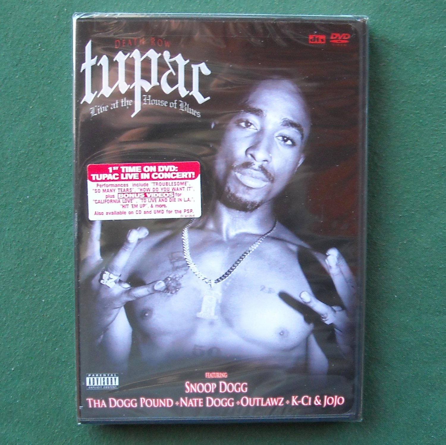 Death Row Tupac Shakur Live at the House of Blues Music DVD