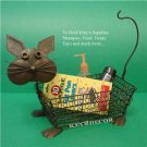 "20"" Classic Cat Kitchen Fruit Metal wire Baskets Holder"