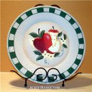 Hand Carved Painted Wood Apple Plate Kitchen Decor NEW