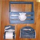 Nautical Tool/Utensil/Mail/Tissue/Holder/Caddy FREE S/H