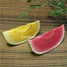 S/2 Carved Wood Watermelon Decor FRUITS new FREE S/H