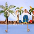 Tropical Coconut Beach Metal Wall Key Rack Coat Hooks