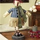 Handmade Primitive Folk Art Patent Leather Annie Doll