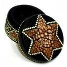 Hand Dotted Painting Star Jewelry TRINKET Box FREE S/H