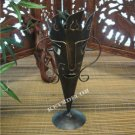"13"" Metal Candle Holders Tiki Bar Mask Pillar Holder"