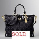 NWT COACH MADISON OP ART JULIANNE BLACK BAG PURSE 12963
