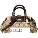 COACH MADISON OP ART SATEEN ALRGE BAG PURSE 12934 retail $398
