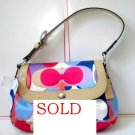 NEW NWT COACH SIGNATURE SCARF PRINT PURSE HANDBAG 13795