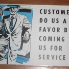 Vintage 1950s Mid Century Auto Advertising Poster 3