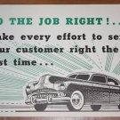 Vintage 1950s  Mid Century Auto Advertising Poster 2