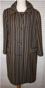 Vintage 50s 60s mid century womens coat med lg