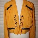Vintage 80s rayon cropped jacket blazer