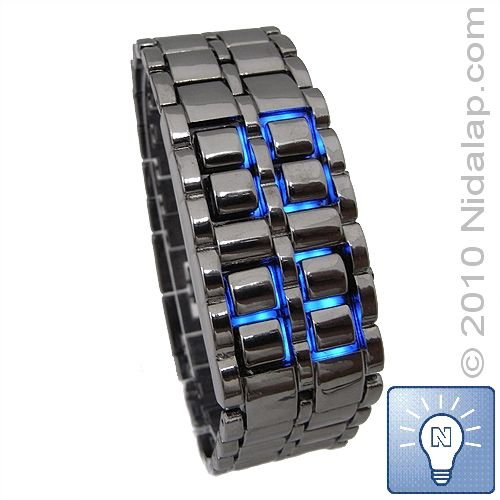 Ice Samurai - Black Band Blue LED Watch (Free Shipping WITH TRACKING NUMBER!)