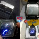 TVG Speedometer RPM Turbo LED Watch 7 COLORS WATER RESISTANT 3 ATM + BONUS 2 BATTERIES!