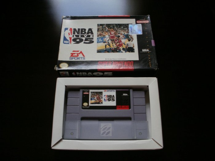 NBA Live 95 - SNES Super Nintendo - With Box & Dust Sleeve