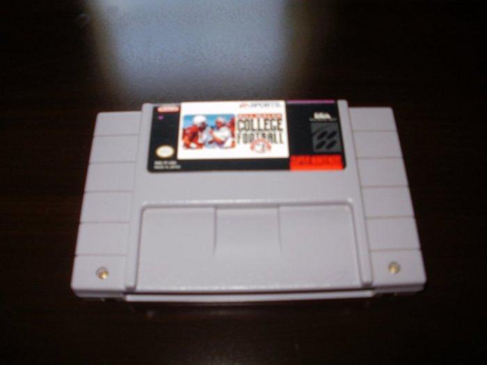 Bill Walsh College Football - SNES Super Nintendo
