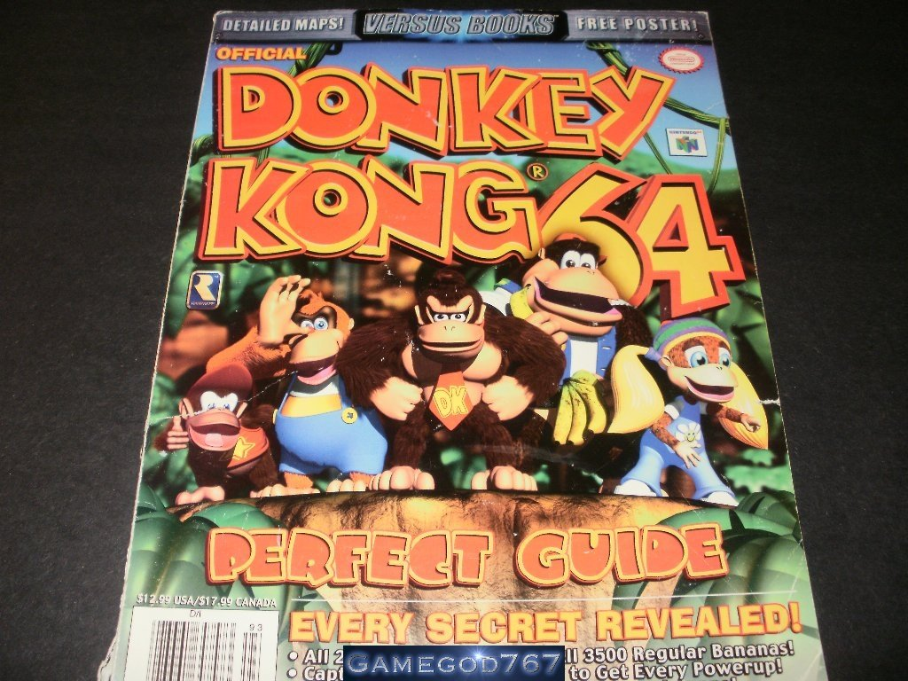 Official Donkey Kong 64 Perfect Guide, Every Secret Revealed