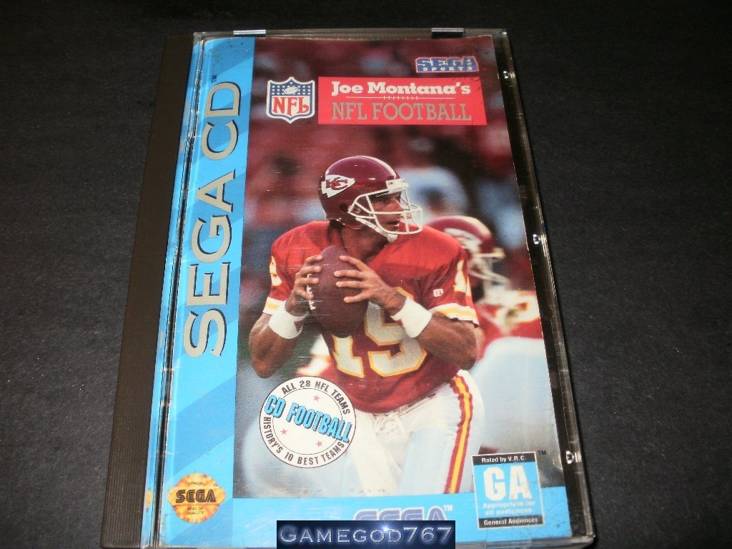 Joe Montana's NFL Football - Sega CD - Complete CIB
