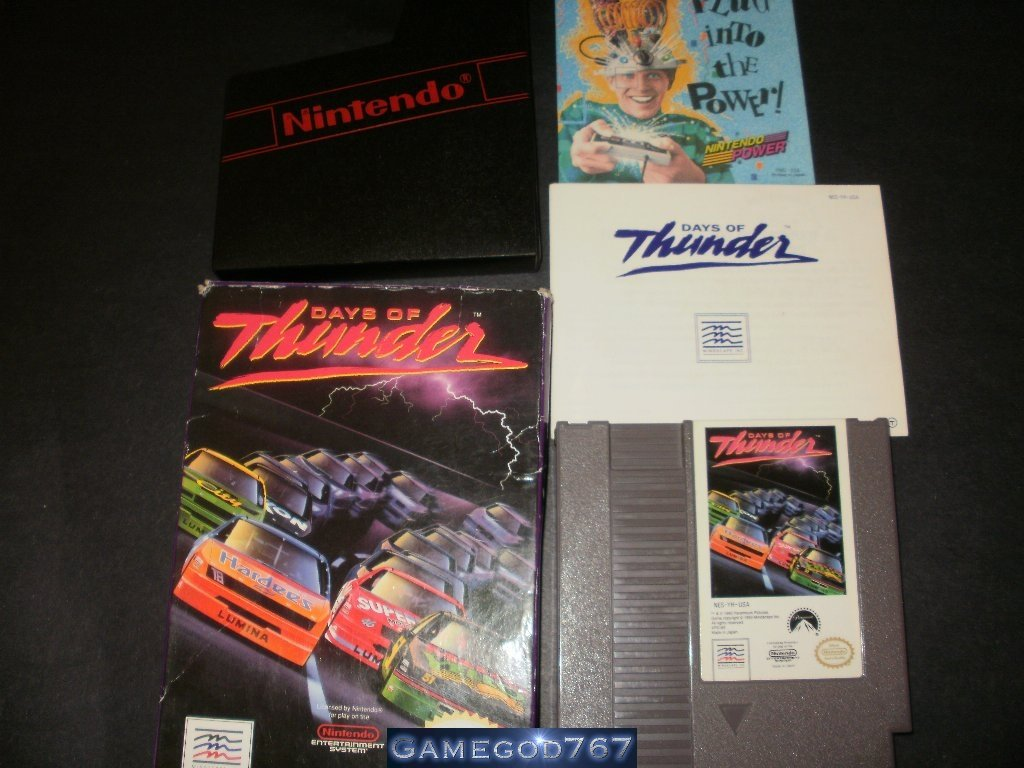 Days of Thunder - Nintendo NES - Complete CIB