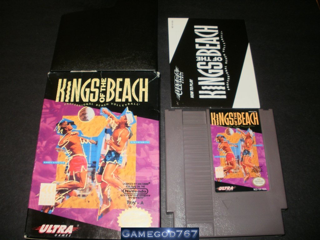 Kings of the Beach - Nintendo NES - Complete CIB