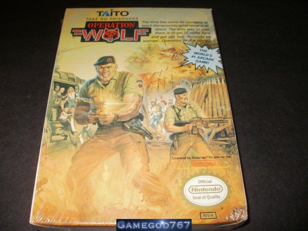 Operation Wolf - Nintendo NES - Brand New Factory Sealed H Seam