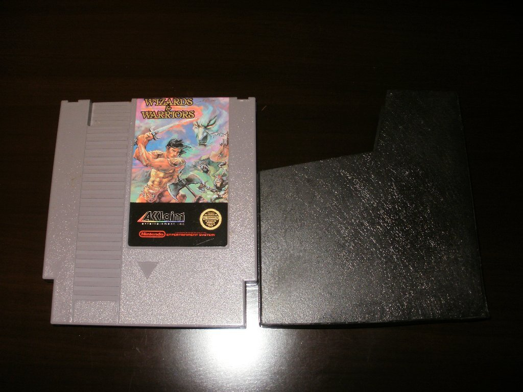 Wizards & Warriors - Nintendo NES - With Cartridge Sleeve