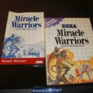 Miracle Warriors - Sega Master System - Complete CIB - Rare