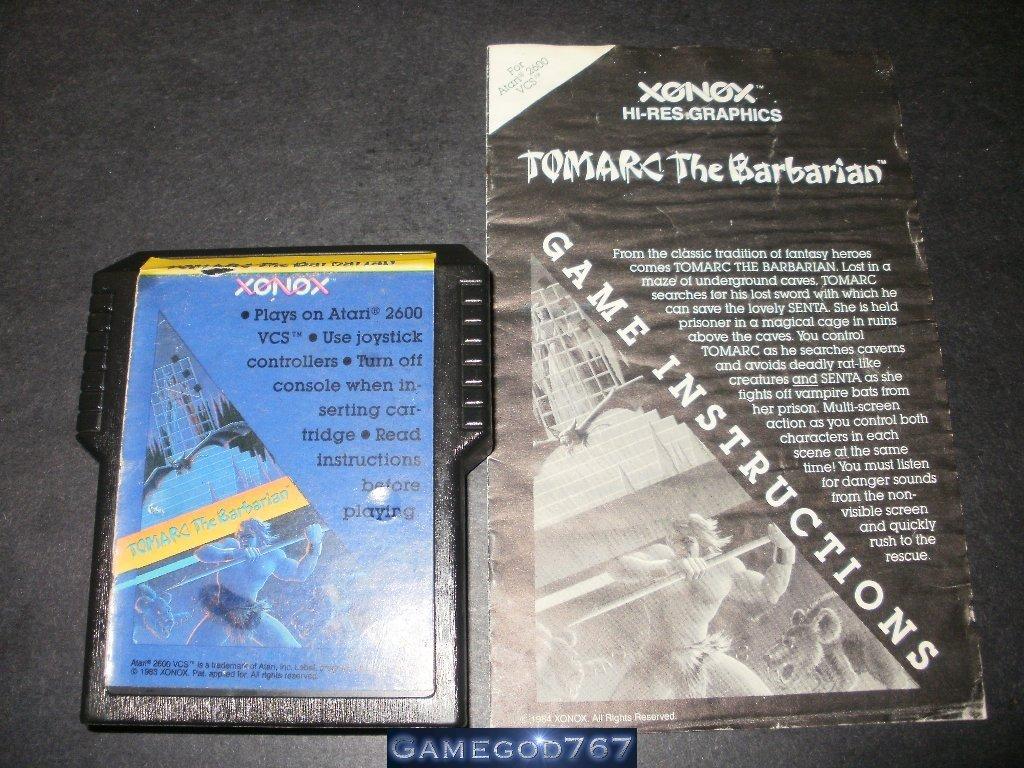 Tomarc the Barbarian - Atari 2600 - With Manual - Extremely Rare