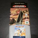 Star Wars Rogue Squadron - N64 Nintendo - With Manual