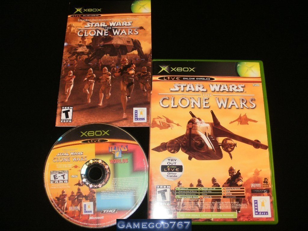 Star Wars The Clone Wars Tetris Worlds Online Edition Combo - Xbox - Complete CIB