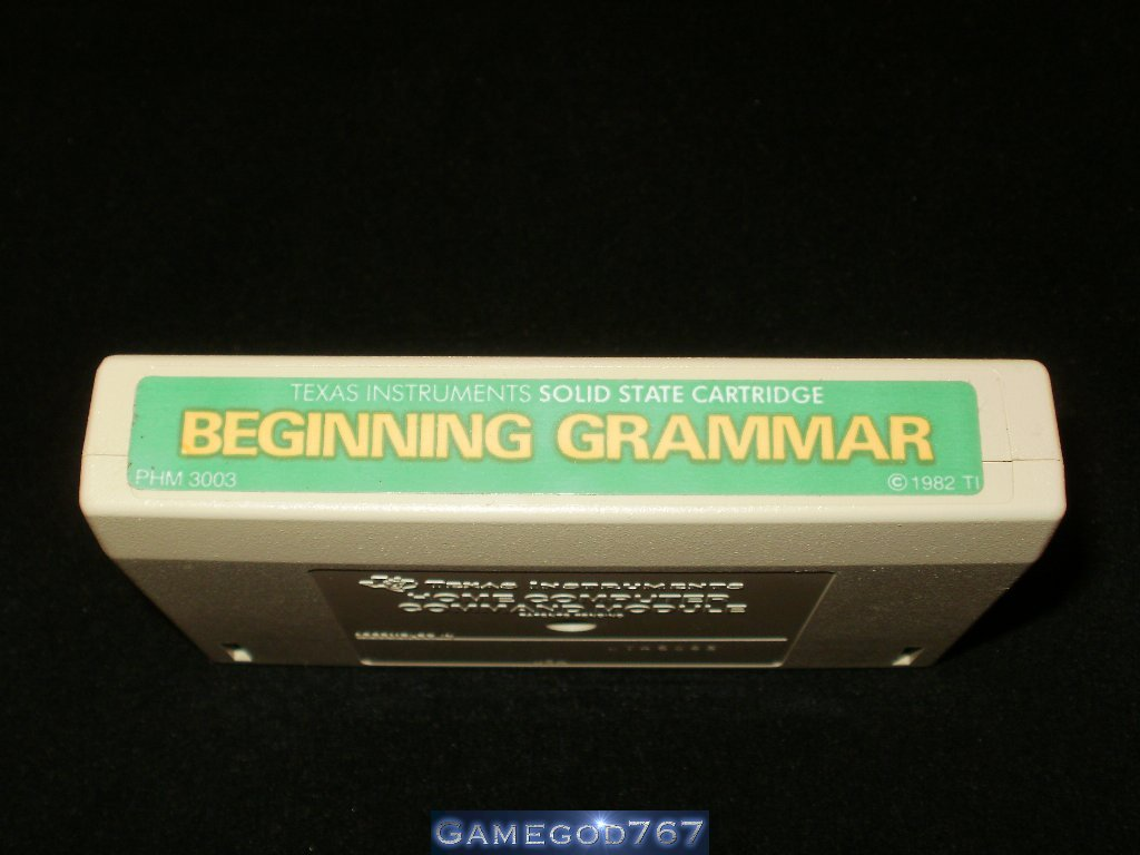Beginning Grammar - Texas Instruments TI-99