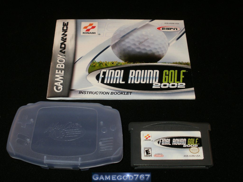 ESPN Final Round Golf 2002 - Nintendo Game Boy Advance - With Manual and Protective Case