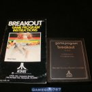 Breakout - Atari 2600 - With Manual