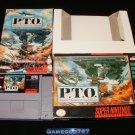 Pacific Theater of Operations - SNES Super Nintendo - Complete CIB