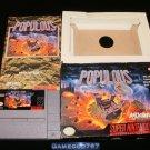 Populous - SNES Super Nintendo - Complete CIB