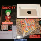 SimCity - SNES Super Nintendo - Complete CIB- Original 1991 Release