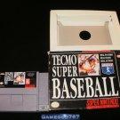 Tecmo Super Baseball - SNES Super Nintendo - With Box