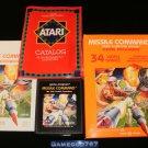 Missile Command - Atari 2600 - Complete