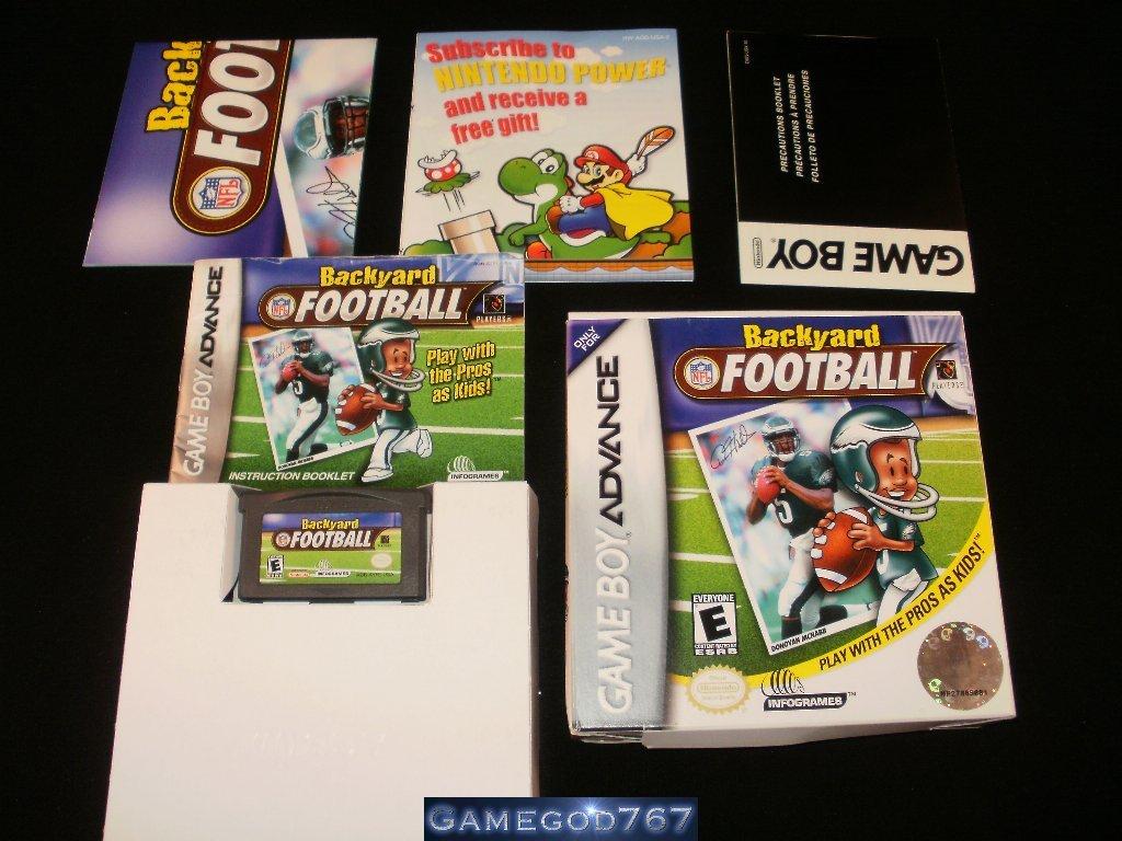 Backyard Football - Nintendo Game Boy Advance - Complete CIB