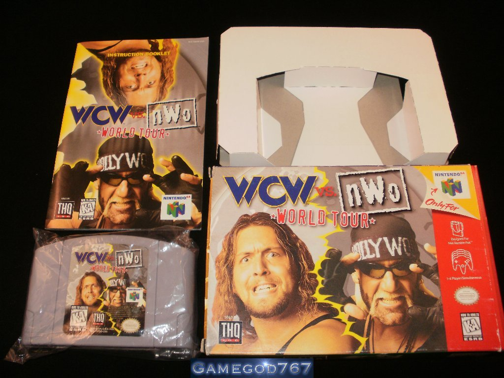 WCW vs. NWO World Tour - N64 Nintendo - Complete CIB