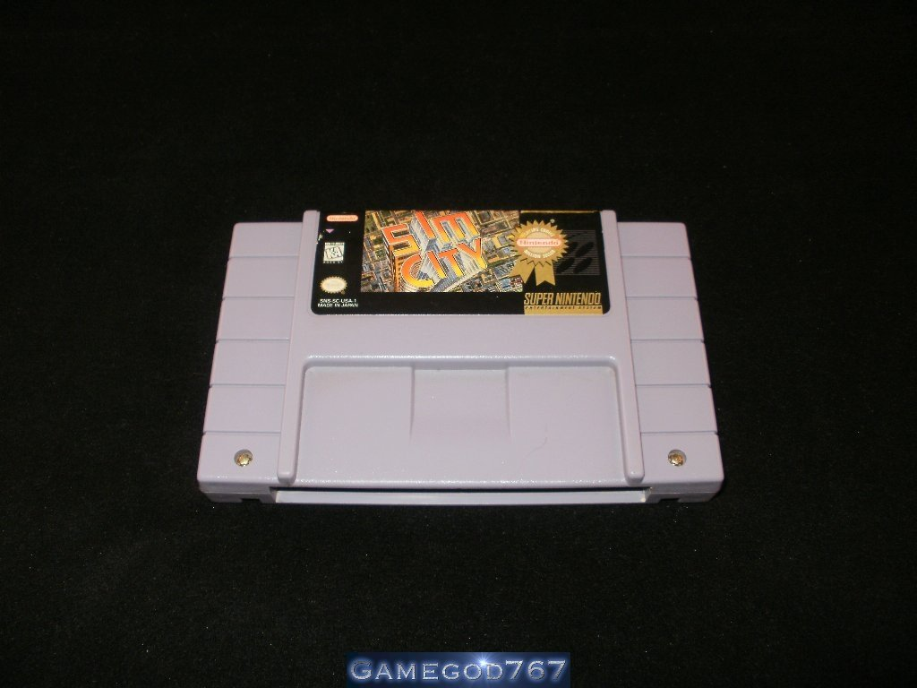 Sim City - SNES Super Nintendo - With Manual