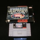 Jeopardy! Deluxe Edition - SNES Super Nintendo - With Box