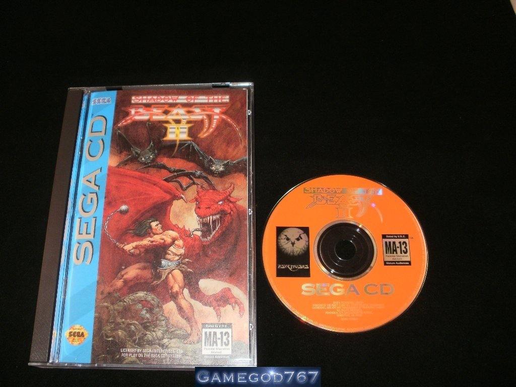 Shadow of the Beast II - Sega CD - Complete CIB - Rare