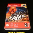 WCW Mayhem - N64 Nintendo - With Manual & Custom Case
