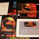 Mortal Kombat - SNES Super Nintendo - Complete