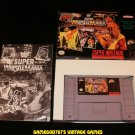 WWF Super Wrestlemania - SNES Super Nintendo - Complete