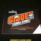 GI Joe Cobra Strike - Atari 2600 - Manual Only